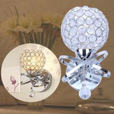 Modern Led Crystal Wall Light Sconce Lamp Bedside Hallway Lighting Fixture Decor