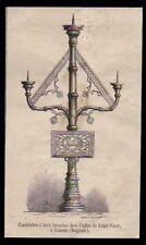 1880  --  CANDELABRE A TROIS BRANCHES DANS L EGLISE DE SAINT VAAST A GAURAIN