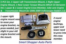 Engine Transmission Motor Mount for 2006 - 2009 Volkswagen Rabbit 2.5L- 5 pieces