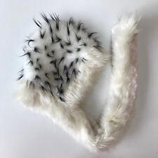FRINGE ELEMENTS Faux Fur Reversible Scoodie Scarf / Hoodie  Festival Burning Man