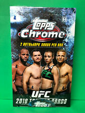2018 TOPPS CHROME UFC SEALED HOBBY BOX (24) PACKS PER BOX