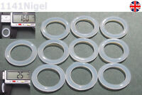 16mm OD  2.5mm CS O Rings Seal Silicone VMQ Sealing O-rings Washers