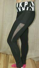 Victoria's Secret Pink Logo Yoga Mesh Cotton Legging Black/ White, M