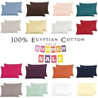 200 TC NEW Oxford 100% Egyptian Cotton SALE Plain Pack 2 Pillow Case Cover Pair