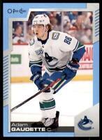 2020-21 UD O-Pee-Chee Blue Border #218 Adam Gaudette - Vancouver Canucks