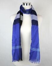 Burberry Mujer Azul Cobalto de Cuadros Seda/Cachemira Bufanda Larga 39283501