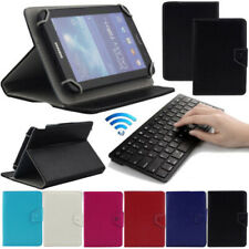 """Leather Stand Cover Case + Wireless Keyboard For Samsung Galaxy 7"""" 8"""" 10"""" Tablet"""
