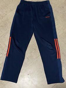 adidas  climalite kids youth sweatpants blue orange xl activewear