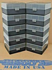300 Black Out (10) 100 Round Smoke / Black Plastic Ammo Storage Box Berry'S Mfg