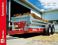 NEW IDEA 3709 to 3743  SPREADERS  SPECIFICATIONS and SALES BROCHURE