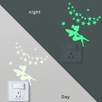 Luminous Wall Stickers Light Switch Decor Decals Art Mural Room Decor Stars