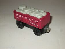 THOMAS TANK ENGINE FRIEND SODOR CHINA CLAY RED BRIO WOODEN RAILWAY 1990'S TRAIN