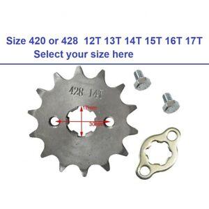 Engine Sprocket 17mm Front Chain 420 428 12T 14T 15T 16T 17T Pit Dirt Bike ATV