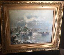 Achilles Formis Belfani Late 19th Cent. Impressionist View of Venetian Lagoon