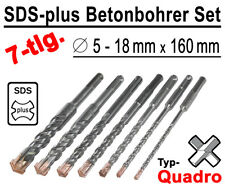 SDS-plus Betonbohrer Set 7-tlg Quadro Bohrer Hammerbohrer 5mm - 18mm x 160mm