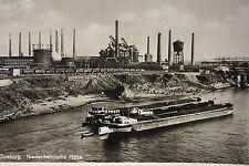 15082 AK Duisburg Niederrheinische Hütte mit Transport Schiff Boot 1940 Bergbau