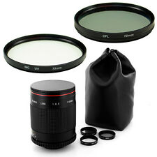 Albinar 500mm Mirror Lens + 72mm Filters Kit for Pentax K-5 K-7 K-r K-x DSLR SLR
