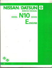 Datsun Nissan N10 Series Cherry 1981-82 E Series Engine 1.0 1.3 Original Manual