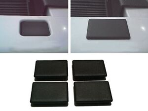 4 Black Truck Bed Stake Hole Cover Plugs fit 1999 thru 2013 Chevrolet Silverado