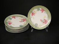 Haviland Limoges France Hand Painted Flower Plates (set of 6)  *