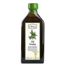 Hemp oil 250 ml - cold pressed high quality OLVITA Poland