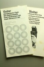 VINTAGE MANUAL: Vivitar 283 Electronic Flash & Quick Release Piistol Grip (M19)