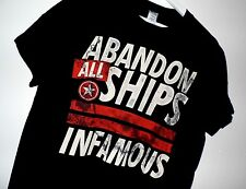 Wholesale Men's T-shirts Lot; 24 Abandon All Ships Genuine T-shirts in 4 Sizes