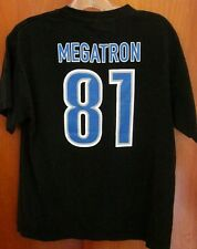 DETROIT LIONS med football T shirt Calvin Johnson #81 tee Megatron NFL