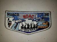 Boy Scout OA 327 Huaco Lodge Flap S23 1996 NOAC Silver Border
