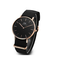 Daniel Wellington Classic Black Cornwall 40mm Gold Mens Watch NEW
