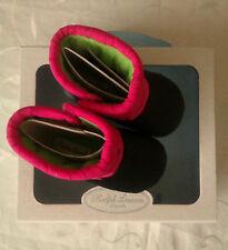 Ralph Lauren Baby Girl's Black & Pink Botas (UK 2.5) PVP: £ 64.99
