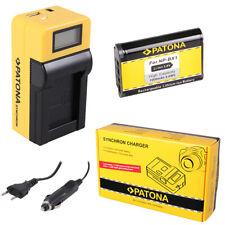 Batteria Patona + caricabatteria Synchron LCD USB per Sony FDR-X3000,HDR-AS10