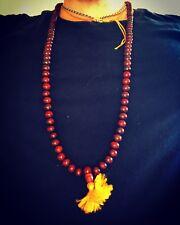 Mala Prayer Necklace Bracelet Rosewood Beads 108 10mm Meditation Buddhism Nepal