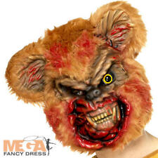 Zombie Teddy Bear Mask Mens Fancy Dress Halloween Animal Adult Costume Accessory
