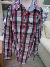 Abercrombie Stunning Boys Checked shirt Size XL Excellent