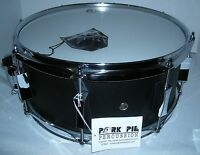 Pork Pie Snare Drum 14 x 6 Little Squealer Metal Black MIB
