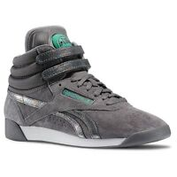 Reebok Freestyle Hi PUMP Co-UP Schuhe Sneaker FS High Fitnessschuhe Leder grau