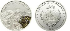 2011 Palau Large  Proof Color Silver $5 Flowers/Mount LOGAN