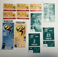 FIFA World Cup 2010 South Africa Tickets Media Field Passes Lot Football, Soccer
