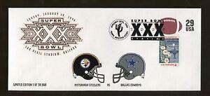 1996 Sun Devil NFL Super Bowl XXX Steelers VS Cowboys Limited Edition Even Cover