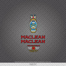01207 Maclean Bicycle Stickers - Decals - Transfers