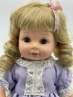 Vintage Citi Toy, 1995 Toddler Doll, 1995, 33cm, 13', Purple Dress, As New