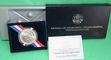 1997 BU National Law Enforcement 90% Silver Dollar US Mint Coin with Box and COA