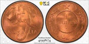 AH1369-1950 SOMALIA 1 CENTESIMO PCGS MS66 RD FINEST KNOWN WORLDWIDE