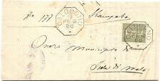 P6308   Vicenza, Caldogno, annullo ottagonale 1886