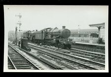 Railway British Rail steam loco engines 5065&7001 at Swindon RP plain back 1954