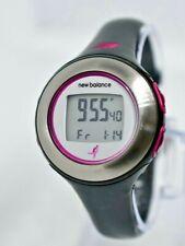 Women's NEW BALANCE Digital HRT LCD Sport Watch, Black/Gray/ Pink Ribbon - Works