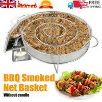 Smoke Generator for BBQ Grills Burn Box Smokers Wood Dust Smoking Salmon Meat UK