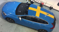 swedish flag volvo v40 s40 graphics vinyl stickers decals