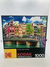 Kodak 1000 PIECE JIGSAW PUZZLE Colorful Waterfront Canal Buildings Amsterdam